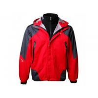 Best The North Face Men's Waterproof Jackets - Red Grey2 wholesale