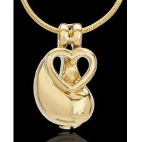 Gold Plated Together as One Cremation Urn Pendant
