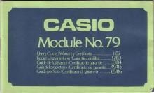 China Casio 79QS Universal with Full Calendar Module 79 LCD Watch User's Manual PDF