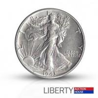China 1943 Walking Liberty Half Dollar - About Uncirculated on sale