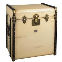 China Luggage End Table, Stateroom- Ivory on sale