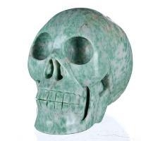 "Cheap 4.92"" Natural Qinghai Jade Skull/Skeleton, Art and Craft (6B59) for sale"