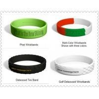 Cheap Eco-friendly Debossed Customized Silicone Bracelets with Logo Printing BJ-C009 for sale