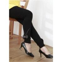 LEGGINGS 1005 - Super Stylish Black Ankle Bow Embellishment Maternity Leggings