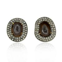 Buy cheap Pave Diamond Geode Earring from wholesalers
