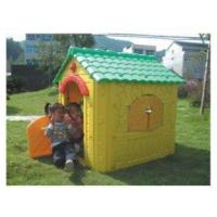 Quality Wood Kids Play Garden Cubby House Yellow Farm Cottage for Boys wholesale