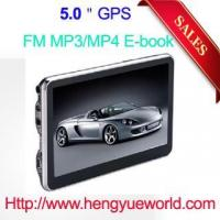 Best 5' gps navigation HD touch screen 128M DDR 4GB memory with free map FM Transmitter wholesale