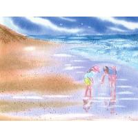 Beachcombers- Original Sold; Prints, Notecards Available