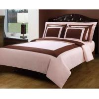 Best Blush Pink And Chocolate Hotel Egyptian Cotton Down Alternative Bed In A Bag wholesale