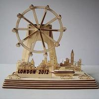 Best solar toys DIY Solar Wooden Toy--london eye 2012 wholesale