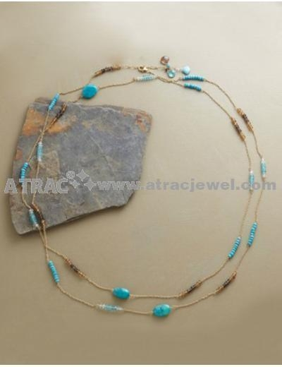 Cheap 2011 2012 elegant long crystal amazon stone necklace for sale
