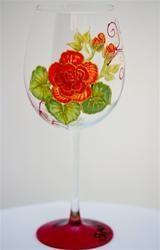 Cheap Shopaholic Hand Painted Wine Glass - 1 Stemware for sale