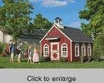 Cheap stratford wood schoolhouse playhouse kit of for Cheap playhouse kits