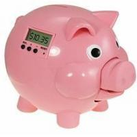 China Electronic Piggy Bank - Pig E Bank - Pink with LCD on sale