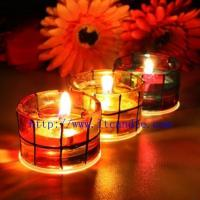 Quality Mosaic jelly candles wholesale