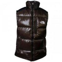 China North Face Mens Down Vest Brown on sale