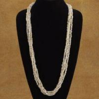 Best Four Strand Handcrafted Beaded Necklace In Traditional Squaw Wrap Style wholesale