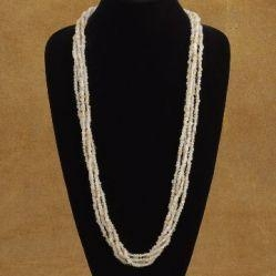 China Four Strand Handcrafted Beaded Necklace In Traditional Squaw Wrap Style