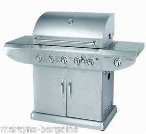 Cheap 5 BURNER GAS BBQ WITH SIDE BURNER + ROTISSERIE BARBEQUE 489.99 for sale