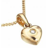 China D for Diamond Classic Gold Heart Pendant Necklace on sale