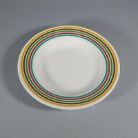 China Color Line Print Melamine Dinner Soup Plate Salad Dishes on sale