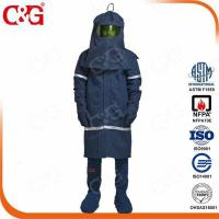China Arc Flash Protective Clothing Navy 40cal electric arc flash protection clothing as arc flash suit on sale