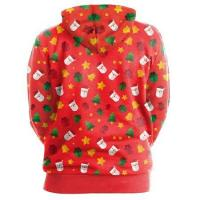 Best Fashion Clothes Red Color Christmas Hoodie 2HCWCY008R wholesale