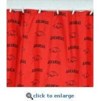 Arkansas Razorbacks Shower Curtain Cover 70