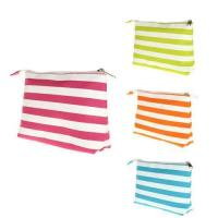 Best Promotional Strip Printed 600D Polyester Fabric Ladies Beauty Bags Cosmetic Bags wholesale