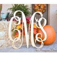 "Best 3 Letter 18"" Wood Monogram - Large Unfinished Monogram wholesale"