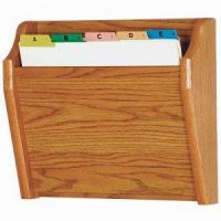 Best Chart and File Holder, Tapered Bottom Wall Mounted, 1 Pocket, Letter Size, Oak Wood Finish wholesale