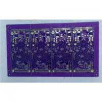Buy cheap 6 Layer Rigid PCB with Purple Solder Mask from wholesalers