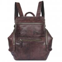 2007Q High Quality Genuine Cow Leather Backpack School Knapsack