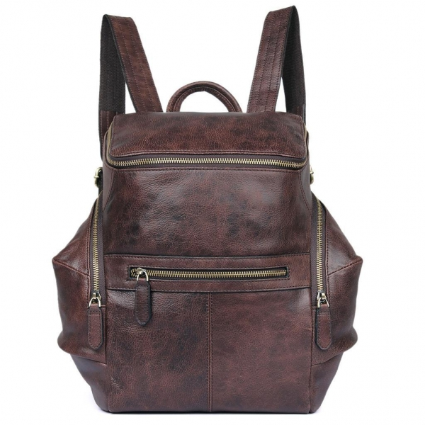 Cheap 2007Q High Quality Genuine Cow Leather Backpack School Knapsack for sale