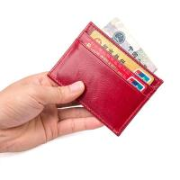 Best R-8174X Hot Selling Red Lady Leather Card Holder Manufacturer wholesale