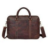 Cheap 7349Q Vintage Cow Leather 15 Inches Laptop Bag for Men for sale