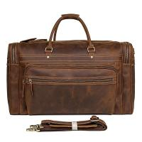 Buy cheap 7317LR Crazy Horse Leather Large Capacity Travel Handbag from wholesalers