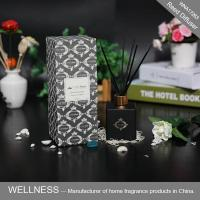 Buy cheap Reed diffuser with balck bottle and rattan stickers-WNA17263 from wholesalers