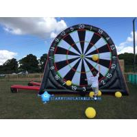 Best New type inflatable foot darts game inflatable soccer kick dart board with magic tape wholesale