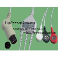 Best IEC,ECG Cable with 3-Lds Clips/Snap 12ft & 45 -6pin_One piece ECG cable with leadwires wholesale