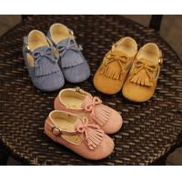 Best wholesale pu leather tassel moccasins flat bow discount toddler kids girl dress shoes sale wholesale