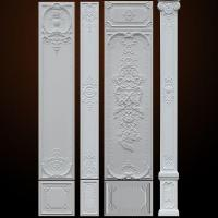 Combination Design Polyurethane Wall Plaque for Architectural Wall Decoration