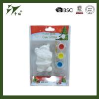 Popular ceramic DIY santa clause shaped paint toy