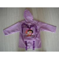 Buy cheap Children's Polyester Purple Packable Rain Jacket With Hood from wholesalers
