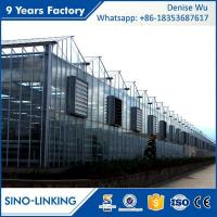 Best SINOLINKING Agricultural polytunnel glass greenhouse Commercial wholesale