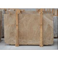 Best Light Cream Engineered Stone Countertop , Polished Marble Tile Kitchen Countertops wholesale