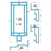 Best 150 200 Structural Drawing of Exposed Frame Curtain Wall wholesale