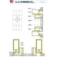 125 150 180 Structural Drawing of Hidden Frame Curtain Wall Series (Hollowed)