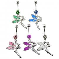 Best Epoxy CZ Fairy Dangle Belly Ring belly-ring-D016 wholesale