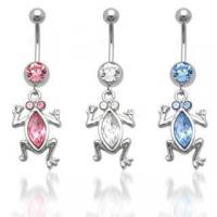 Best CZ Frog Dangle Belly Ring belly-ring-D022 wholesale